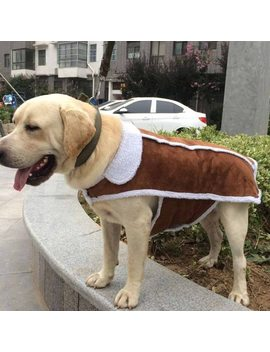 Large Dog Vest Luxury Buckskin Pet Clothes Coat For Big Dogs Labrador Winter Clothing For Golden Retriever Shepherd Pet Supplies by Sydzsw