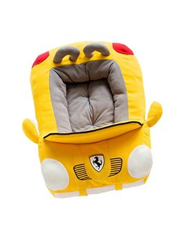 Pet Dog Puppy Soft Large Cool Sport Convertible Car Design Bed House Square Durable Dog Indoor Sofa,Yellow by Tumafan
