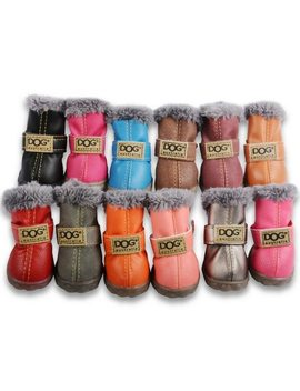 Waterproof Pet Shoes Winter Dog Cat Snow Boots Warm Puppy Booties For Chihuahua by Ali Express