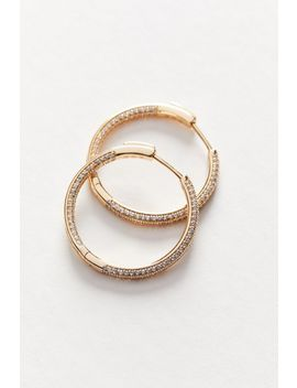 The M Jewelers Pavé Ravello Medium Hoop Earring by The M Jewelers