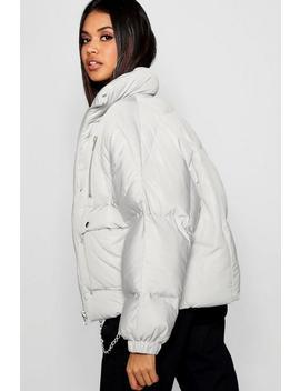 Double Zip Puffer Jacket by Boohoo