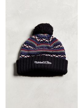 Mitchell & Ness New York Red Bulls Jacquard Pompom Beanie by Mitchell & Ness