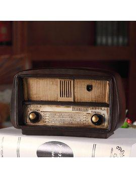 Europe Style Resin Radio Model Retro Nostalgic Ornaments Vintage Radio Craft Bar Home Decor Accessories Gift Antique Imitation by Iampretty