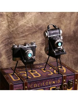 Vintage Retro Tripod Camera Model Decoration Crafts Shop Window Personalization Ornaments Photography Props Vintage Gift by Iampretty