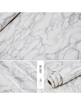 Self Adhesive Marble Vinyl Wallpaper Roll Furniture Decorative Film Waterproof Wall Stickers For Kitchen Backsplash Home Decor by Yunpoint