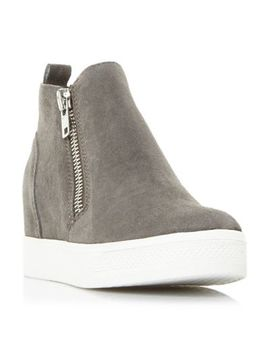 Steve Madden   Grey 'wedgie' Platform High Tops Trainers by Steve Madden