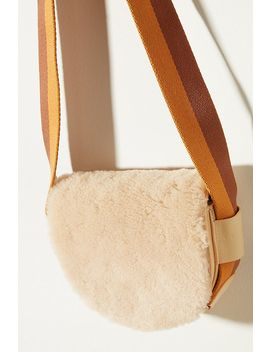 Liebeskind Sheepskin Trimmed Leather Crossbody Bag by Liebeskind