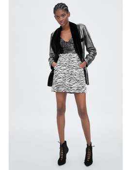 Zebra Print Mini Skirt  Collection by Zara