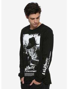 A Nightmare On Elm Street Freddy Krueger Long Sleeve T Shirt by Hot Topic