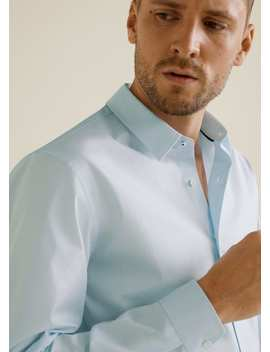 Tailored Super Slim Fit Cotton Shirt by Mango