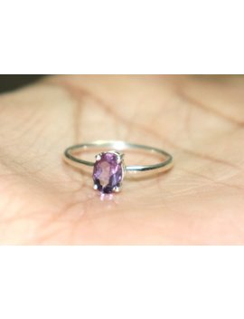 Natural Amethyst Ring  Statement Ring Purple African Amethyst Ring Handmade Ring Jewelry  February Birthstone Ring Purple Ring#R122 by Etsy