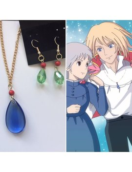 Howl's Moving Castle Necklace And Earrings, Howl Jenkins Pendragon, Howl's Moving Castle Cosplay, Wizard Howl by Etsy