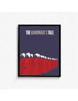 The Handmaid's Tale Minimalist Poster  Tv Show, Feminist Wall Art by Etsy