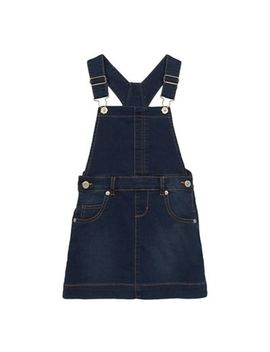 Bluezoo   Girls' Blue Denim Dungaree Dress by Bluezoo