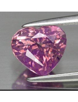Purplish Pink Sapphire, Heart Shaped, Ceylon Sapphire. Ethically Sourced Gemstone. by Etsy