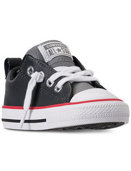 Toddler Boys' Chuck Taylor Street Ox Leather Casual Sneakers From Finish Line by Converse
