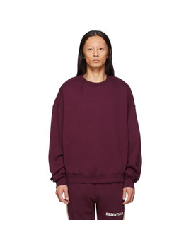 Burgundy Pullover Sweatshirt by Essentials