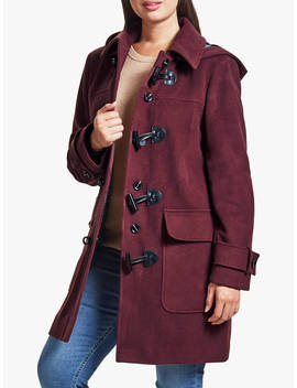 Four Seasons Plain Duffle Coat, Berry by Four Seasons