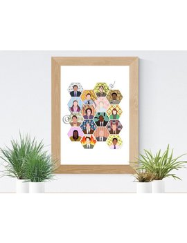 The Office Art Tv Show Us Cast Print  Individual Backgrounds Characters, Michael Scott, Dwight Schrute, Jim Halpert by Etsy