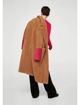 Παλτό με γούνα σε αντίθεση by Mango