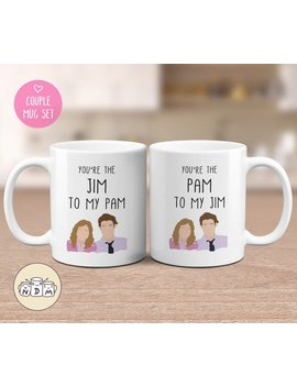 You Are My Pam/Jim   Couple Gift Mugs Set For Lovers, His And Hers Coffee Mug Set, Gift For Couple, Gift For Boyfriend, Gift For Girlfriend by Etsy