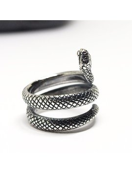 Sterling Silver Snake Ring, Made To Order by Etsy
