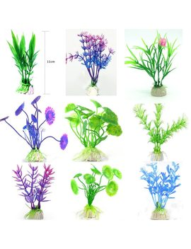 Factory Direct Wholesale Simulation Water Plants, Aquarium Fish Tank Landscaping Plants Plastic 10cm, Flower Decoration Aquarium by Halojaju