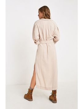 Free People Audrey Cream Stripe Midi Dress by Free People