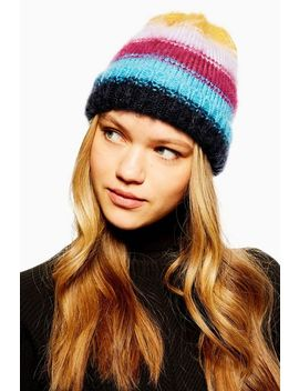 Brush Striped Ombre Beanie Hat by Topshop
