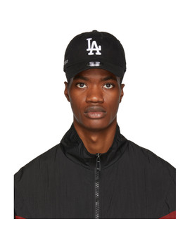 Black La Dodgers Edition Cap by Marcelo Burlon County Of Milan