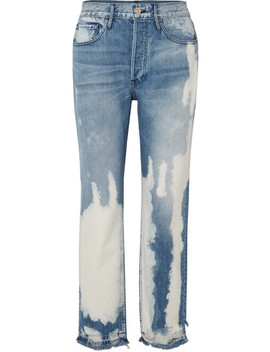 W3 Higher Ground Bleached Distressed High Rise Straight Leg Jeans by 3x1