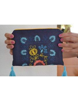 Täschchen Mit Handstickerei *Orient* 15x21/ Universaltäschchen/ Kosmetiktasche/ Kosmetikbag/ Schminktasche/ Embroidery Orient/ Canvastasche by Etsy