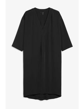 Oversized V Neck Dress by Monki