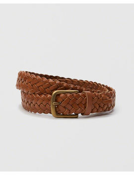 1 1/4 Inch Braided Leather Belt by Abercrombie & Fitch
