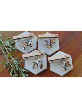Fathers Day Wooden Cufflinks And Tie Clip Sets by Etsy
