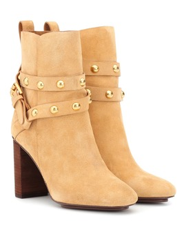 Janis Suede Ankle Boots by See By Chloé