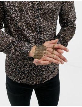 Asos Design – Handsmycke För Fest Med Ringbrynjedesign I Bortstat Guld by Asos