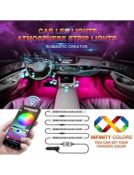 Car Led Strip Light, Wsiiroon Newest Style App Controller Car Interior Lights, Brighter Led Lamps, Infinite Diy Colors With Sound Active Function For I Phone Android Smart Phone(Dc 12 V) by Wsiiroon