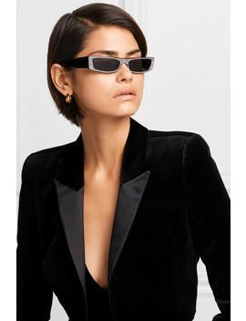 + Alain Mikli Edwidge Crystal Embellished Square Frame Acetate Sunglasses by Alexandre Vauthier