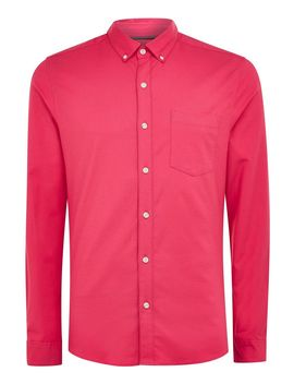 Pink Stretch Skinny Oxford Shirt by Topman