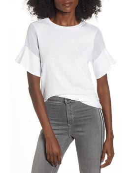 Sheer Sleeve Tee by Topshop