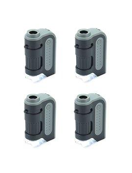 Carson Micro Brite Plus 60x 120x Power Led Lighted Pocket Microscope   Set Of 4 (Mm 300 Mu) by Amazon