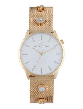 Women's Gold Tone Mesh Bracelet Watch 34mm by Thom Olson