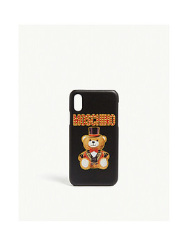 I Phone X Teddy Phone Case by Moschino