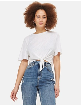 Knot Front Tee by Topshop