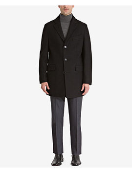 Men's Slim Fit Overcoat, Created For Macy's by Bar Iii
