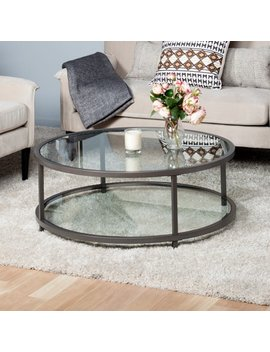Studio Designs Home Camber Round Coffee Table, Pewter by Studio Designs Home