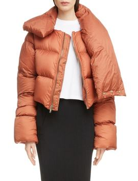 Down Fill Crop Puffer Coat by Rick Owens