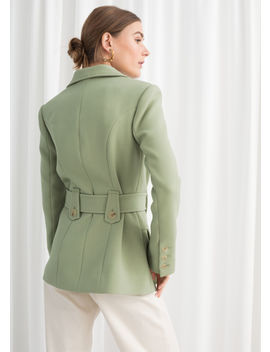 Structured Belted Workwear Jacket by & Other Stories
