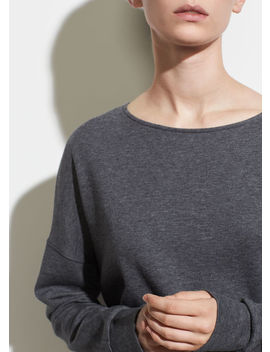 Long Sleeve Cotton Pullover by Vince